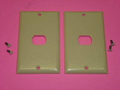 Nos! (2) Bell Interchange Single Gang Wall Plate, 1-Hole Horizontal, 17-1-Ivory