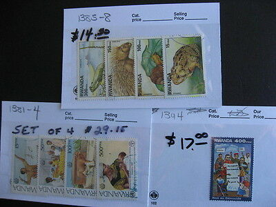 RWANDA better1992-99 era on sales cards, high Catalogue value, check them out!