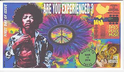 Jvc Cachets - 2014 Jimi Hendrix First Day Cover Fdc Topical -Are You Experienced