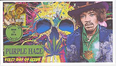 Jvc Cachets - 2014 Jimi Hendrix First Day Cover Fdc Topical Music - Purple Haze