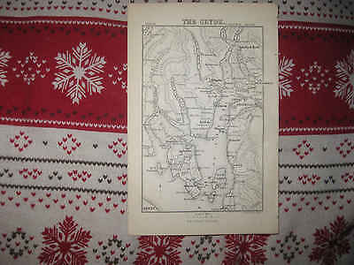 Superb Antique 1872 The Clyde Scotland Map Bute Firth Of Clyde Loch Long Nr