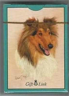Collie Dog Playing Cards Sealed Deck 2006 Gift Link by Artist Robert May