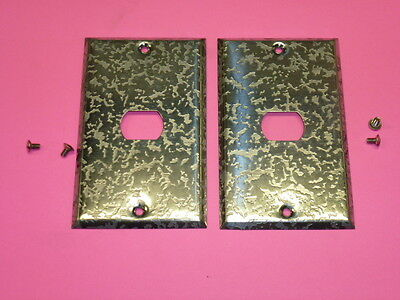 Nos! (2) Bell Interchange 1-Gang Antique Chrome Finish Wall Plate, 1-Hole