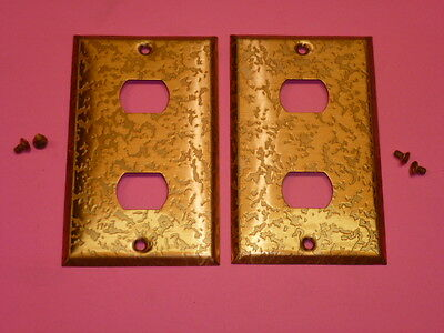 Nos! (2) Bell Interchange 1-Gang Antique Copper Finish Wall Plate, 2-Hole
