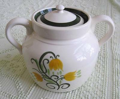 Stangl Pottery Hand Painted Yellow Tulip Bean Pot or Cookie Jar