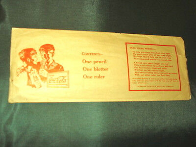 Vintage 1942 School Pencil, Blotter, & Ruler Set, In 1929/30  Original Envelope