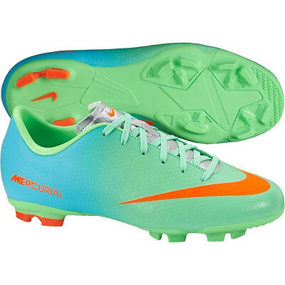 3a32c12fd9952 Nike Mercurial Victory IV IC Indoor Soccer SHOES 2014 Neon Green New KIDS  YOUTH Youth Team Sports