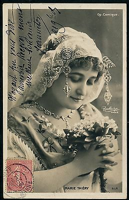 MARIE THIERY - Carte-Photo Artiste 1900 - 65