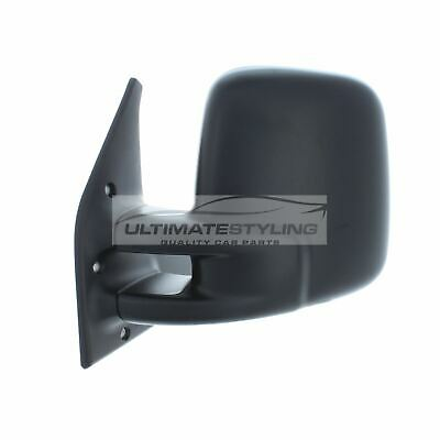 VW T4 Transporter 1990-2003 Door Mirror Manual Black N/S Passenger Left