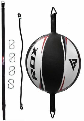 RDX Leather Double End Dodge Speed Ball MMA Boxing Floor to Ceiling Punch Bag GX