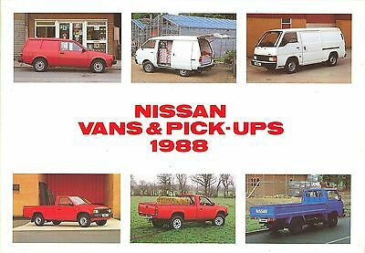 1988 (May) Nissan Vans + Pick-Ups Brochure