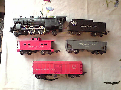 Rame American Flyer loco vapeur 221 + tender + 3 wagons train S type Lionel