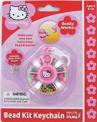 HELLO KITTY mini BEAD KIT Keychain Keyring SANRIO Make your own bracelet! NEW