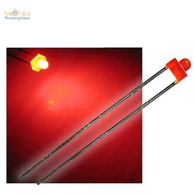 10 diffuse ROTE 1,8mm LEDs LED DIFFUS rot Miniatur red rouge rosso rojo