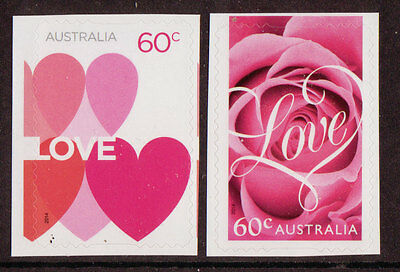 Australia 2014 Romance, Love Stamps Self Adhesive Unmounted Mint, Mnh