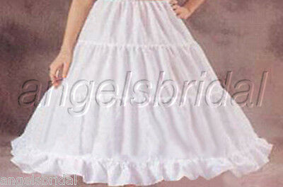 3-Hoop Flower Girl Pageant Wedding Gown Dress Petticoat Skirt Slip Size L 24""