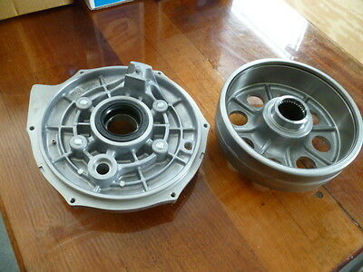 SHOES HONDA FOURTRAX TRX 300 TRX300 4X4 4x2 BRAKE DRUM PLATE TIN COVER /& kit