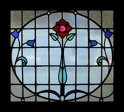 The Very Best Art Nouveau Rose Beauty Antique Scottish Stained Glass Window