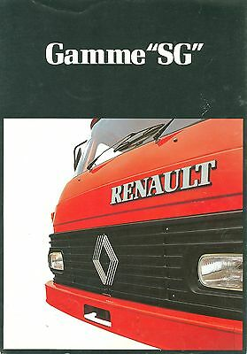 1981 Renault Sg-Series Trucks Brochure (French)