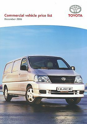 2006 (Dec) Toyota Commercial Vehicle Price List
