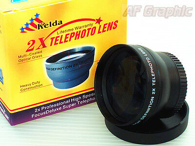 Z2 2X TELE telephoto Lens 37mm for Sony HDR XR550 HDR CX550 HDR HC9 HDR CX12