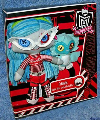 Monster High Friends GHOULIA YELPS & SIR HOOTS A LOT Plush Doll