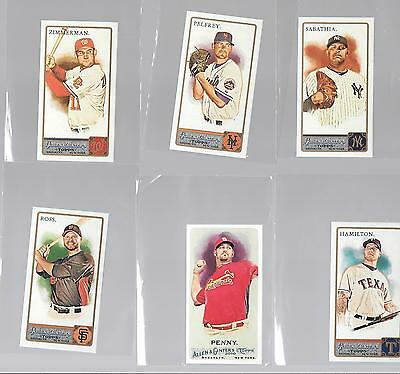 Lot of 6, 2010 - 2011 Topps Allen & Ginter Short Print or A&G Back Mini