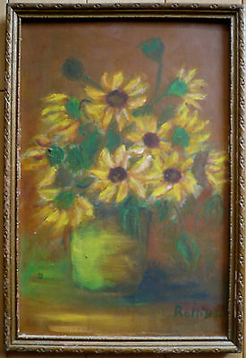 Mary Rollins, Listed Early California Impressionist Rare Floral Calif Ca Old Art