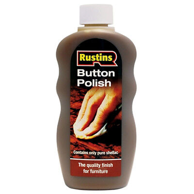 Rustins Button Polish for French Polishing and Sealing Wood Before Waxing 300ml