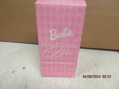 2000  Barbie Millennium Bride Porcelain Ornament Avon  NIB