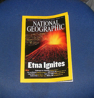 National Geographic Magazine February 2002 - Reefs/etna/central Asia, Elkton,md