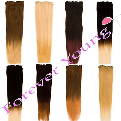 Premium Dip Dye Ombre Remy Clip-in Human Hair Extensions All Colours