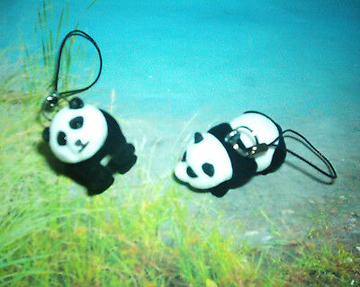 Crafted / Cute Two Inch White & Black Panda Bear Figure Christmas Tree Ornament