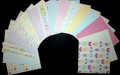 "*BRIGHT YOUNG THINGS* Scrapbooking/ Cardmaking Papers x 16 - 15cm x 15cm (6""x6"")"