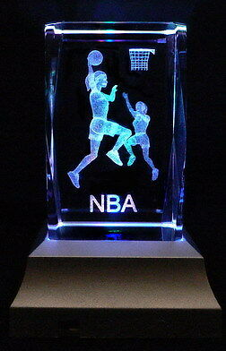 WNBA Women NBA Basketball Laser Inscribed Crystal LED Night Light Gifts 023