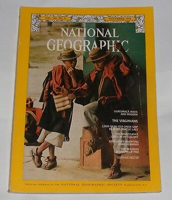 National Geographic Magazine November 1974 - Virginia/tuscany/hebrides