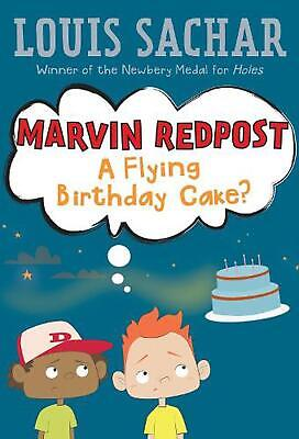 A Flying Birthday Cake by Louis Sachar (English) Paperback Book Free Shipping!