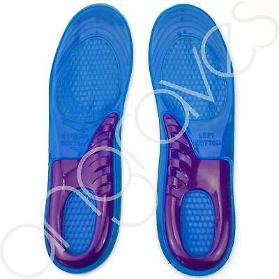 Pair Orthotic Full Silicone Gel Support Shoe Corrective Sport Insole Size 8-12