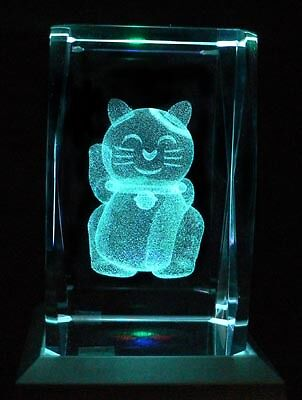 Doraemon Machine Cat Laser Inscribed Crystal LED Night Light Gifts 098