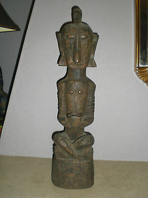Statuette Africaine Tres Ancienne   H 45 Cm