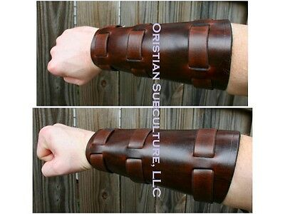 Basic Belt Over Leather Rounded Bracers Arm Armor SCA LARP armour Richard Cypher