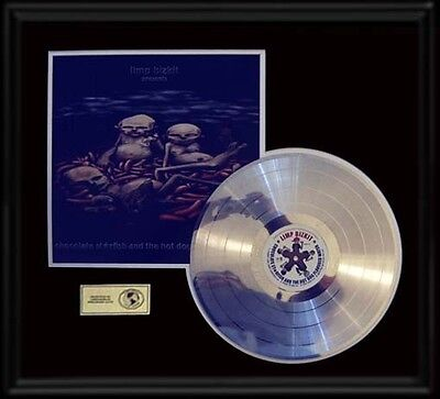 Limp Bizkit Chocolate Starfish Rare Gold Record Platinum  Disc Lp Album Frame