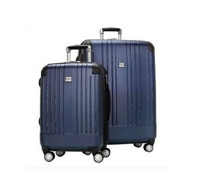 "New Ricardo of Beverly Hills 2 Piece Travel Set 20"" Carry On  27"" Upright *Blue*"
