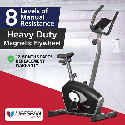 Upright Magnetic Exercise Spin Bike Bicycle Trainer Lifespan Fitness EXER58