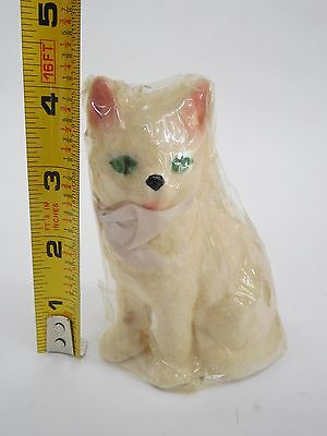 "SOLID CERAMIC FUZZY FUR CAT FIGURINE TRU-LIFE BY CHANDRA (4 1/2"" TALL) LOT#6"