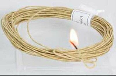 Waxed Hemp cord 100% with Bees wax coating   Hemp Twine -   - Holds Flame- Wick