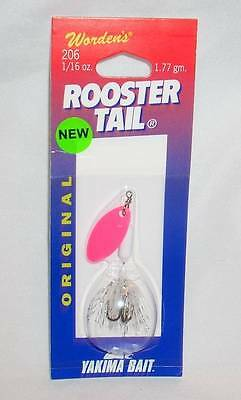Wordens Yakima Bait 1/16 oz Pink White Claudette Rooster Tail Fishing Lure
