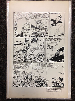 BOY HEROES 1 ERNIE SCHROEDER ORIGINAL ART PAGE   HARVEY 1945 WWII Golden Age
