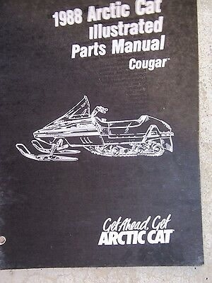 1988 Arctic Cat Snowmobile Cougar Illustrated Parts Manual Suspension Clutch P