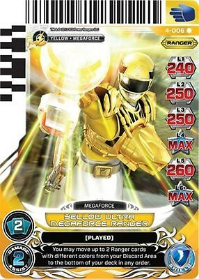 POWER RANGERS CARD LEGENDS UNITE Blue Senturion 098 X 4